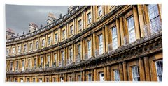 Bath Towel featuring the photograph The Royal Crescent, Bath by Wallaroo Images