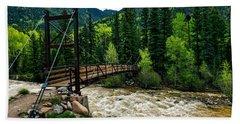 The Rushing Animas River - Colorado Bath Towel