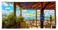 The Salty Dog Cafe St. Thomas Hand Towel