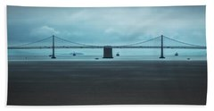 The San Francisco - Oakland Bay Bridge Bath Towel