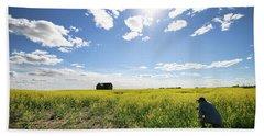 The Saskatchewan Prairies Bath Towel by Ryan Crouse