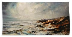 Bath Towel featuring the painting The Sea  by AmaS Art