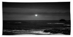 The Sea By Night Hand Towel by Martina Fagan