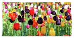 The Season Of Tulips Bath Towel