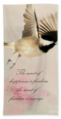 Hand Towel featuring the photograph The Secret by Darren Fisher