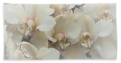 The Secret To Orchids Bath Towel by Sherry Hallemeier