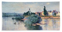 The Seine At Lavacourt Hand Towel