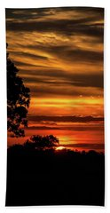 Bath Towel featuring the photograph The Setting Sun by Mark Dodd