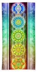 The Seven Chakras - Series 3 Artwork 1.1 Bath Towel