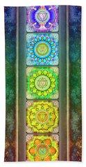 The Seven Chakras - Series 3 Artwork 2.1 Bath Towel