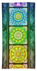 The Seven Chakras - Series 3 Artwork 2.1.2 Bath Towel