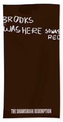 The Shawshank Redemption Movie Poster Bath Towel