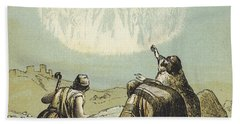 The Shepherds In The Field Hand Towel