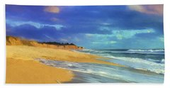 The Shoreline At Half Moon Bay Bath Towel