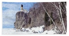 The Shoreline Lighthouse Hand Towel