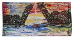 The Signature Bridge Hand Towel by Andrew J Andropolis