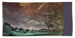 The Silence Of A Falling Star Hand Towel by Randy Burns