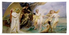 The Sirens Hand Towel by Edouard Veith