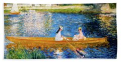 Renoir Boating On The Seine Hand Towel