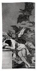 The Sleep Of Reason Produces Monsters Bath Towel