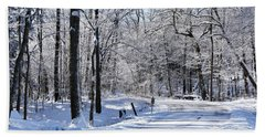 The Snowy Road 1 Hand Towel