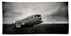 The Solheimsandur Plane Wreck Hand Towel by Tor-Ivar Naess