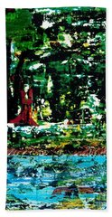 The Wizard Of The Woods Hand Towel