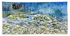 The Sound Of The Rain Hand Towel by Evelina Popilian