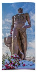 The Spartan Statue Michigan State Hand Towel by John McGraw