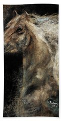 Hand Towel featuring the painting The Spirit Of Freedom - W1 by Barbie Batson