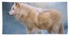 The Spirit Within - Arctic Wolf Art Bath Towel