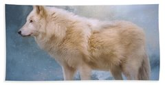The Spirit Within - Arctic Wolf Art Bath Towel