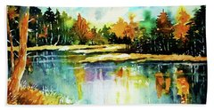The Splendor And  Color Of Autumn Bath Towel by Al Brown