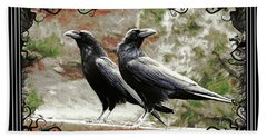 The Spooky Ravens Bath Towel