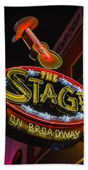 The Stage On Broadway Hand Towel by Stephen Stookey