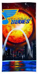 The Stl Blues Hand Towel by Justin Moore