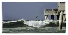 The Storm  Hand Towel by Debra Forand