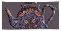 The Strawberry Thief Pattern Teapot Hand Towel