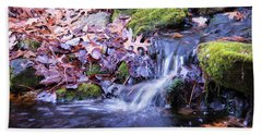 The Stream In Fall Hand Towel