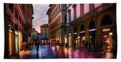 The Streets Of Florence Bath Towel