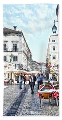 The Streets Of Old Lisbon Hand Towel
