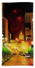 The Streets Run With Crimson And Gold Hand Towel