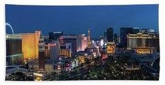 The Strip Las Vegas Dusk Hand Towel