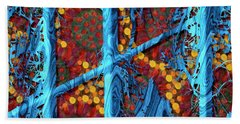 The Summer We Went To Blue Tree Hand Towel