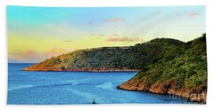 The Sun Sets On St. Thomas Bath Towel