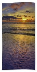 Hand Towel featuring the photograph The Sun Sets Softly In Molokai by Tara Turner