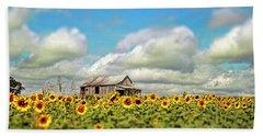 The Sunflower Farm Bath Towel by Darren Fisher