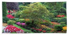 The Sunken Garden At Dusk Hand Towel
