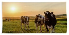 Bath Towel featuring the photograph The Sunset Graze by Joel Witmeyer