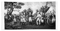 The Surrender Of General Burgoyne Hand Towel